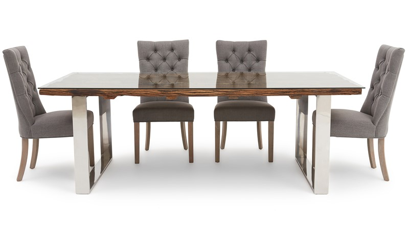 Columbus 200cm Dining Table & 4 Rufus Chairs