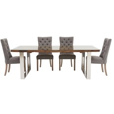 Columbus 200 Dining Table & 4 Rufus Chairs