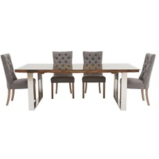 Columbus 220cm Dining Table & 4 Rufus Chairs