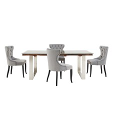 Columbus Dining Table & Gatsby Dining Chairs