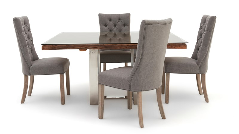 Columbus Square Dining Table & 4 Rufus Chairs