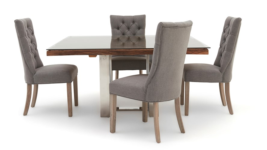 Phenomenal Columbus Square Dining Table 4 Rufus Chairs Sterling Furniture Cjindustries Chair Design For Home Cjindustriesco