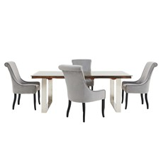 Columbus Dining Table & Sylvester Dining Chairs