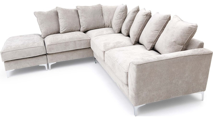 Contempo Chaise Left Corner Sofa with Stool
