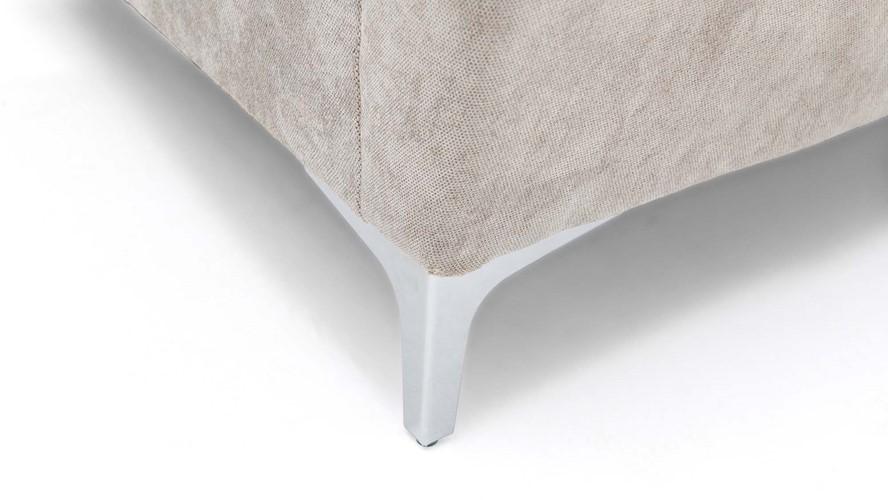 Contempo Chaise Left Corner Sofa with Stool