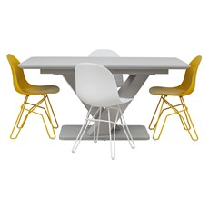 Cosmo Extending Dining Table & 4 Academy Chairs