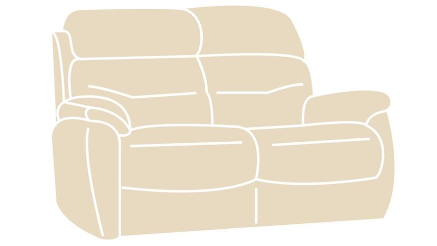 Costa Fabric 2 Seater Sofa