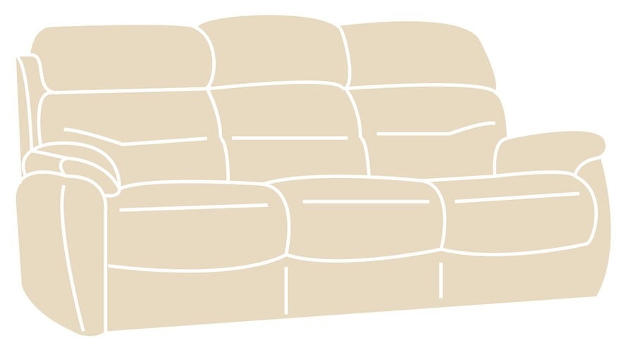 Costa Fabric 3 Seater Sofa