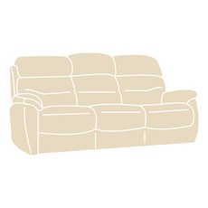 Costa Fabric 3 Seater Sofa