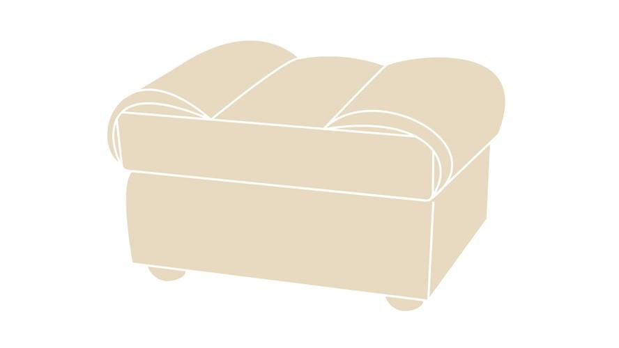 Costa Fabric Footstool