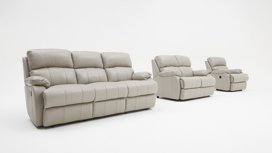 Carlo Leather 3 Seater Recliner Sofa