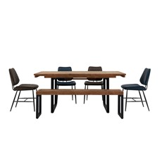 Detroit Extending Table, Bench & 4 Starley Chairs