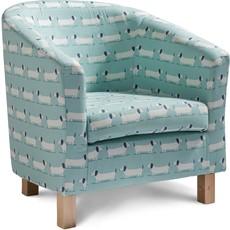 Hound Dog Teal Tub Chair