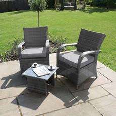 Eden Flatweave Lounge Set Grey