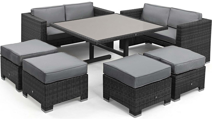 Eden Flatweave Sofa Set Grey