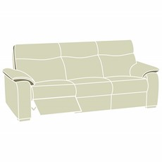 Elle 3 Seater Recliner Sofa