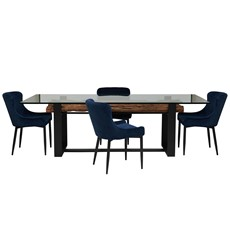 Ellsworth Dining Table & 4 Petra Chairs