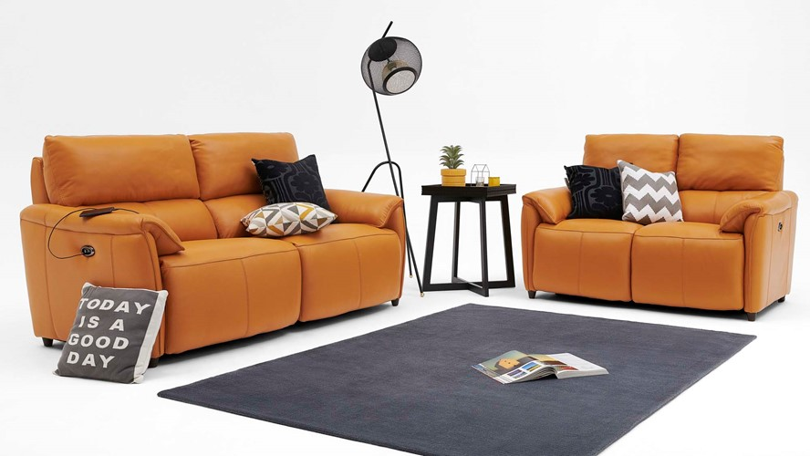 Forbes 2 Seater Power Recliner Sofa