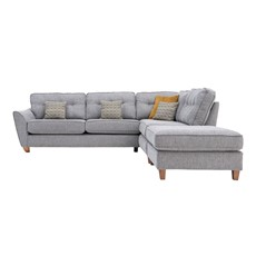Freya Corner Sofa Right Chaise with stool