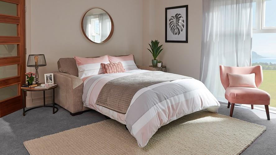 Gabriella 3 Seater Fabric Sofa Bed
