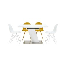 Gala Extending Table & 4 Academy Chairs