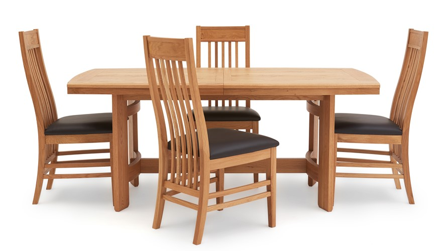 Gloucester Extending Dining Table 4 Chairs