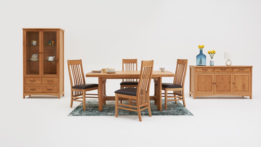 Gloucester extending dining table chairs sterling