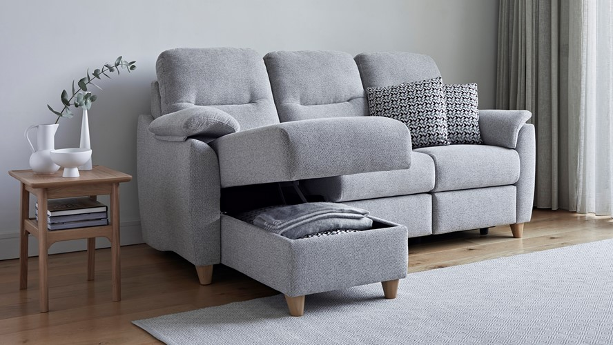 G Plan Spencer Corner Sofa - Chaise Storage Left