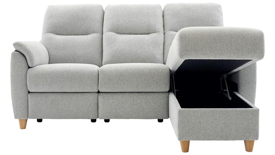 G Plan Spencer Corner Sofa - Chaise Storage Right