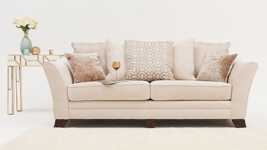 Harvard 4 Seater Pillow Back Sofa