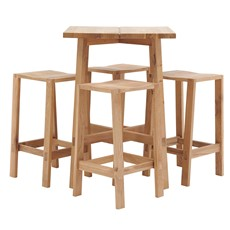 Henrik Bar Table & 4 Bar Chairs