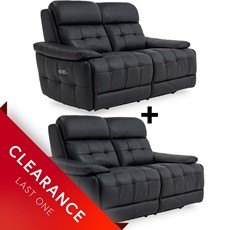 Ex-display Heston 2 Seater Power Recliner & 2 Seater Power Recliner