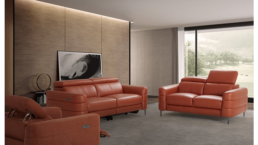 Hoy 2 Seater Sofa with Manual Headrests