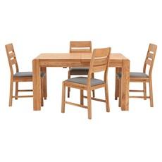 Hugo Extending Dining Table & 4 Hugo Chairs