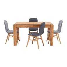 Hugo Extending Dining Table & 4 Elsa Chairs