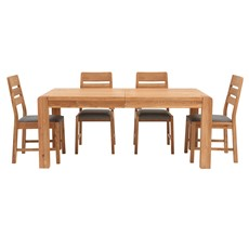 Hugo Large Extending Dining Table & 4 Hugo Chairs