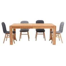 Hugo Large Extending Dining Table & 4 Elsa Chairs