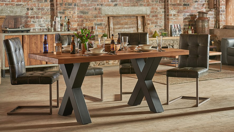 Raindale Cross Leg Dining Table