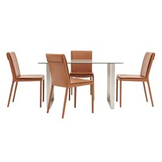 Jakarta Dining Table & 4 Hertz Chairs