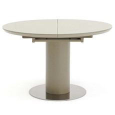 Kasper Round Extending Dining Table - Cappacino