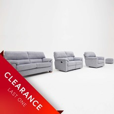 Ex-display Kilmore 3 Seater, 2 Seater Recliner, Recliner Chair & Storage Stool
