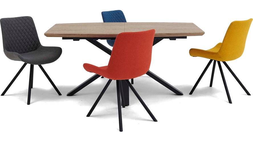 Kito Extending Dining Table & 4 Ace Chairs