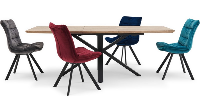 Kito Extending Dining Table & 4 Storm Chairs