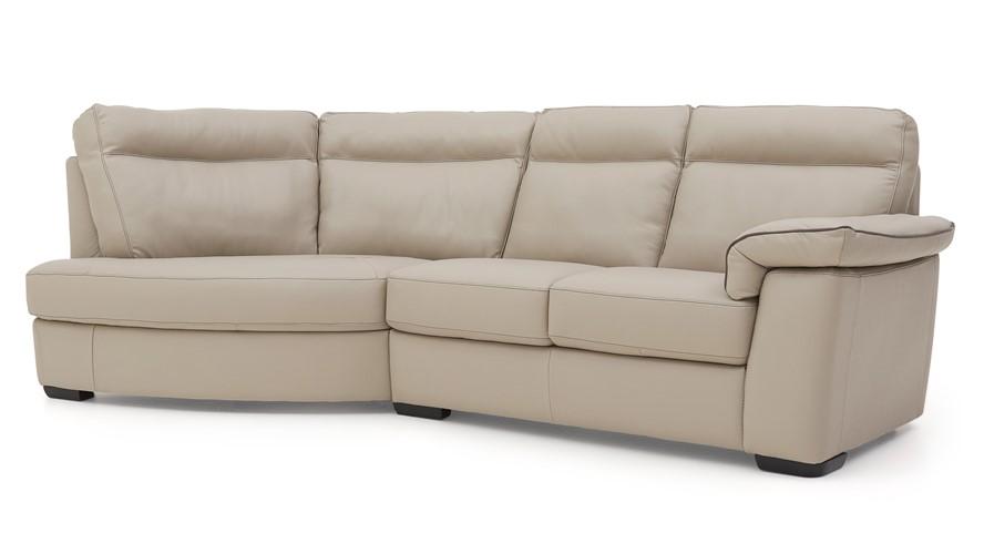 Natuzzi Editions Livorno Curved Corner Sofa LHF (Save £980.01 ...