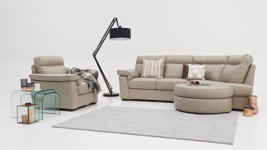 Natuzzi Editions Livorno Curved Corner Group RHF