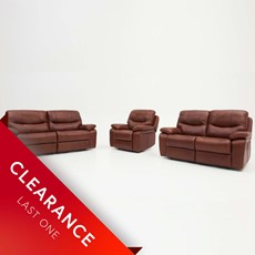 Ex-display Loreto 2 Seater Power Recliner, 2 Seater Manual Recliner & Power Recliner Chair