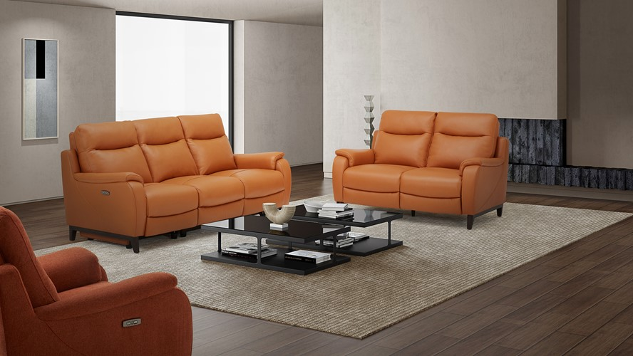 Lundy 3 Seater Power Recliner