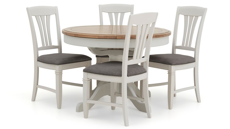 Maine Round Extending Table Amp 4 Dining Chairs Sterling