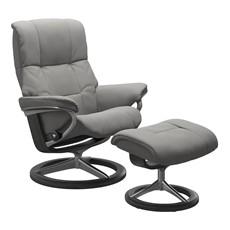 Large Stressless Mayfair Chair &  Stool - Signature base