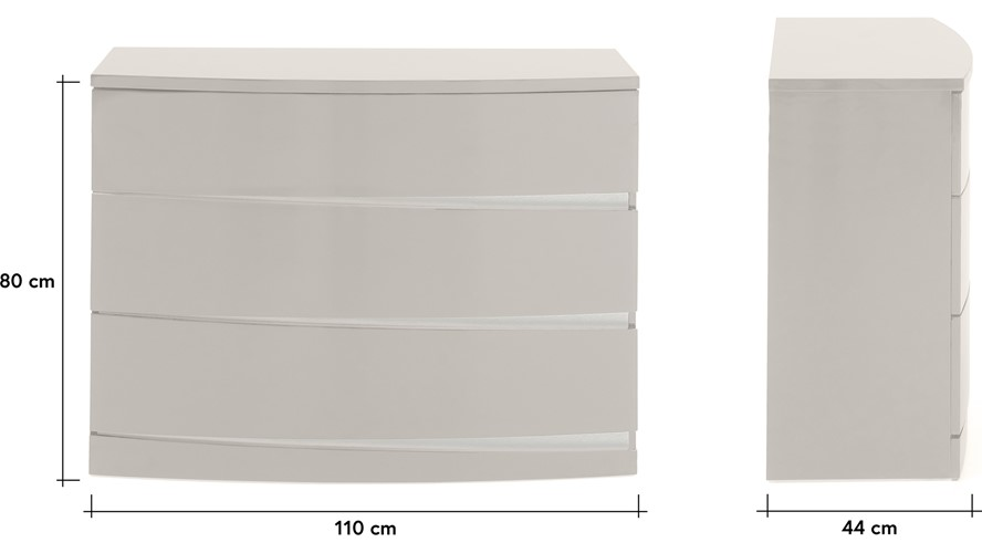 Merino 3 Drawer Chest